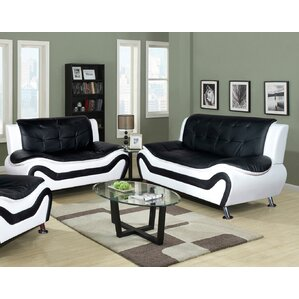 Algarve Leather 2 Piece Living Room Set