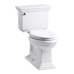 Bargain Memoirs Stately Comfort Height Two-Piece Elongated 1.6 GPF Toilet with Aquapiston Flush Technology and Left-Hand Trip Lever By Kohler