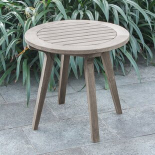 Junious Teak Side Table by Foundry Select 2019 Sale