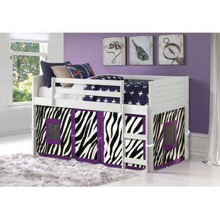 Buy clear Winona Twin Low Loft Bed By Zoomie Kids