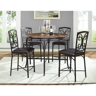 Vaughan 5 Piece Pub Table Set Fleur De Lis Living