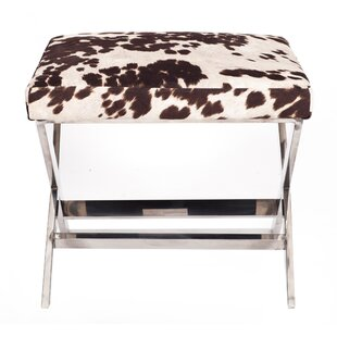 Iconic Home Diddle Cow Print Ottoman