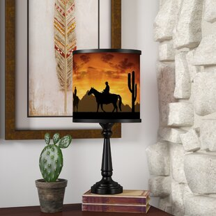 Comparison Casia Western Cowboys 18.5 Table Lamp By Loon Peak