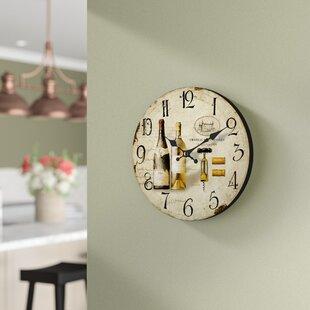 fresh idea whimsical clocks. Round Beige 13 5  Wall Clock Kitchen Clocks You ll Love Wayfair
