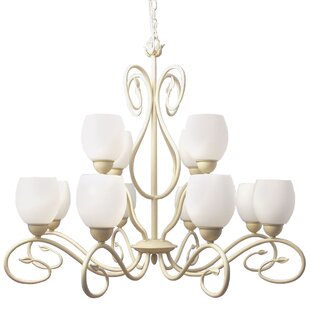 Compare Champlaign 12-Light Shaded Chandelier By Woodbridge Lighting