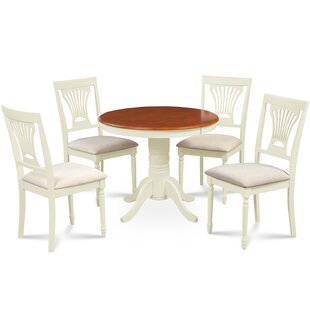 Cedarville Contemporary 5 Piece Wood Dining Set by Alcott Hill