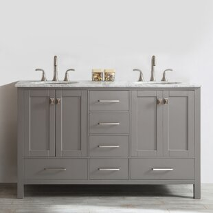 Newtown 60 Double Bathroom Vanity Set by Beachcrest Home