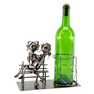 Lovers On Bench 1 Bottle Tabletop Wine Rack Purchase