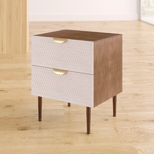 Moritz Honeycomb End Table with Storage by Mercury Row