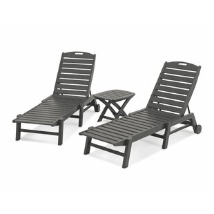 Nautical 3-Piece Chaise Set by POLYWOOD?