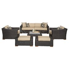 Woodfield 7 Piece Deep Seating Group with Cushion