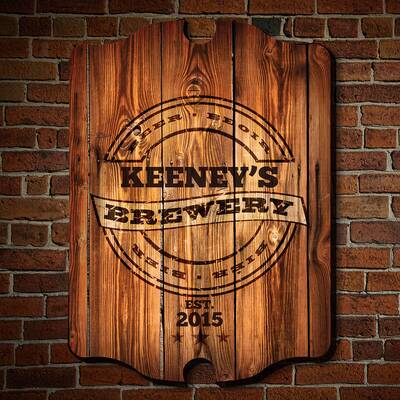 Personalized Brewery Bar Sign Wall Décor