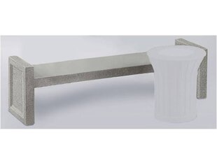 Keystone Stone Garden Bench (Set of 2)