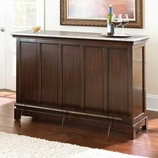Red Barrel Studio Covington Counter Bar with Wine Storage
