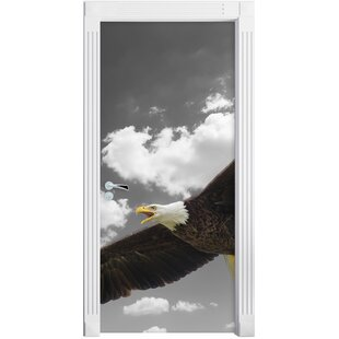 Magnificent Flying Bald Eagle Door Sticker By East Urban Home