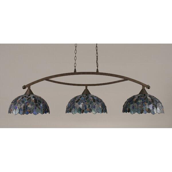Astoria Grand Austinburg 3 Light Pool Table Dome Pendant Wayfair