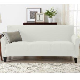 Super Soft Jersey Knit Box Cushion Sofa Slipcover By Winston Porter