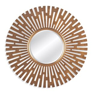House of Hampton Roulers Antique Gold Leaf Sunburst Wall Mirror