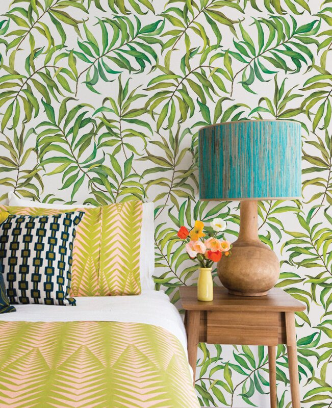 Gouldin Tropical Leaves 4 L X 24 W And Stick Wallpaper Roll