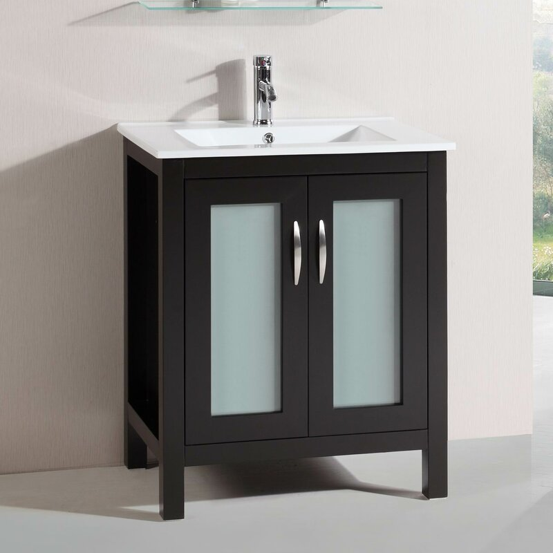 BelvedereBath Modern Freestanding Single Bathroom Vanity Set - Modern free standing bathroom vanities