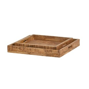 Donoghue 2 Piece Serving Tray Set By Williston Forge