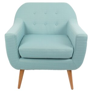 Hyannis Arrow Fabric Armchair by Corrigan Studio