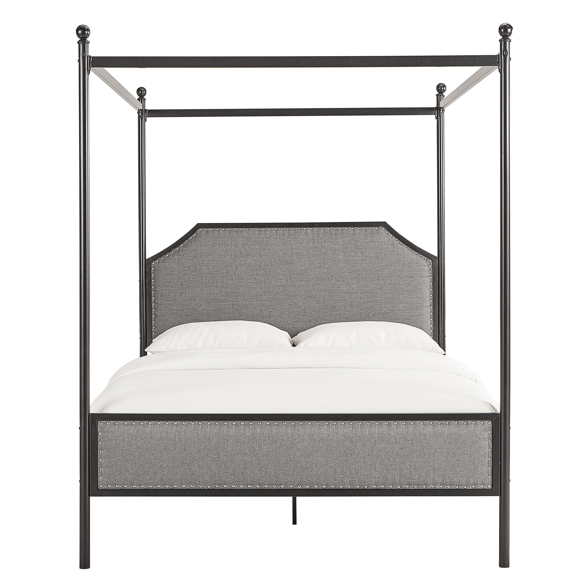 Picture of: Lina Metal Queen Canopy Bed Reviews