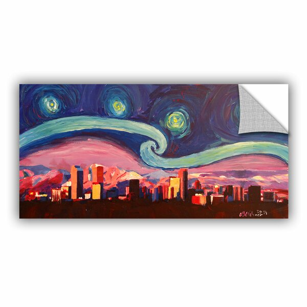 Artwall Marcus Martina Bleichner Starry Night In Denver Colorado Skyline With Mountains Removable Wall Decal Wayfair
