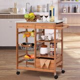 Kandy 4 Tier Kitchen Cart with Stainless Steel Top by Ebern Designs
