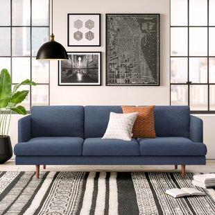 Modern Contemporary Cobalt Blue Sofa Allmodern