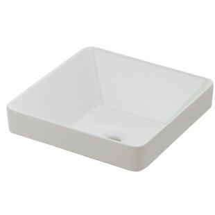 Hazelwood Home Ceramic Square Vessel Bathroom Sink