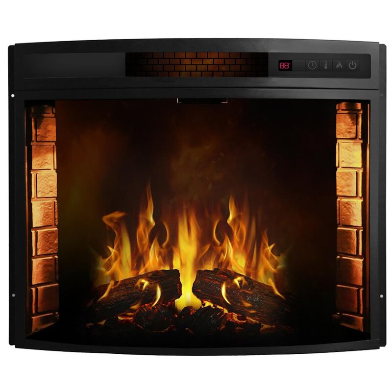 Moda Flame Elwood Curved Electric Fireplace Insert & Reviews   Wayfair