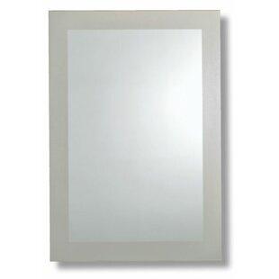 Orren Ellis Protagoras Frosted Border Bathroom/Vanity Mirror