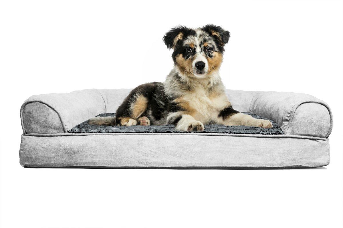 Extra large orthopedic dog beds best price - Furhaven Plush Orthopedic Sofa Style Dog Bed