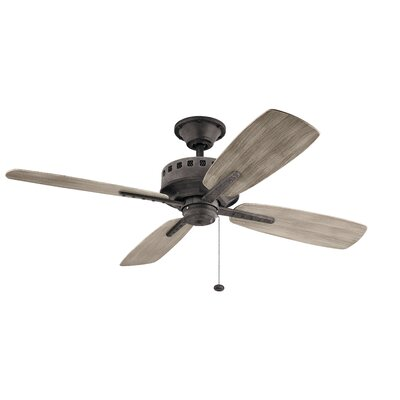17 Stories 52 inch Sherise Patio 4 Blade Outdoor Ceiling Fan Finish Weathered Zinc