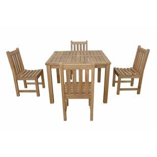 Montage Braxton 5 Piece Teak Dining Set