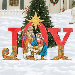 joy nativity yard lawn art - Nativity Outdoor Christmas Decorations