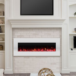 Lockport Pearl Wall Mounted Electric Fireplace by Wade Logan
