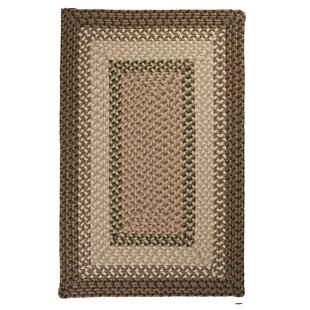 Tiburon Spruce Green Braided Indoor/Outdoor Area Rug by Colonial Mills