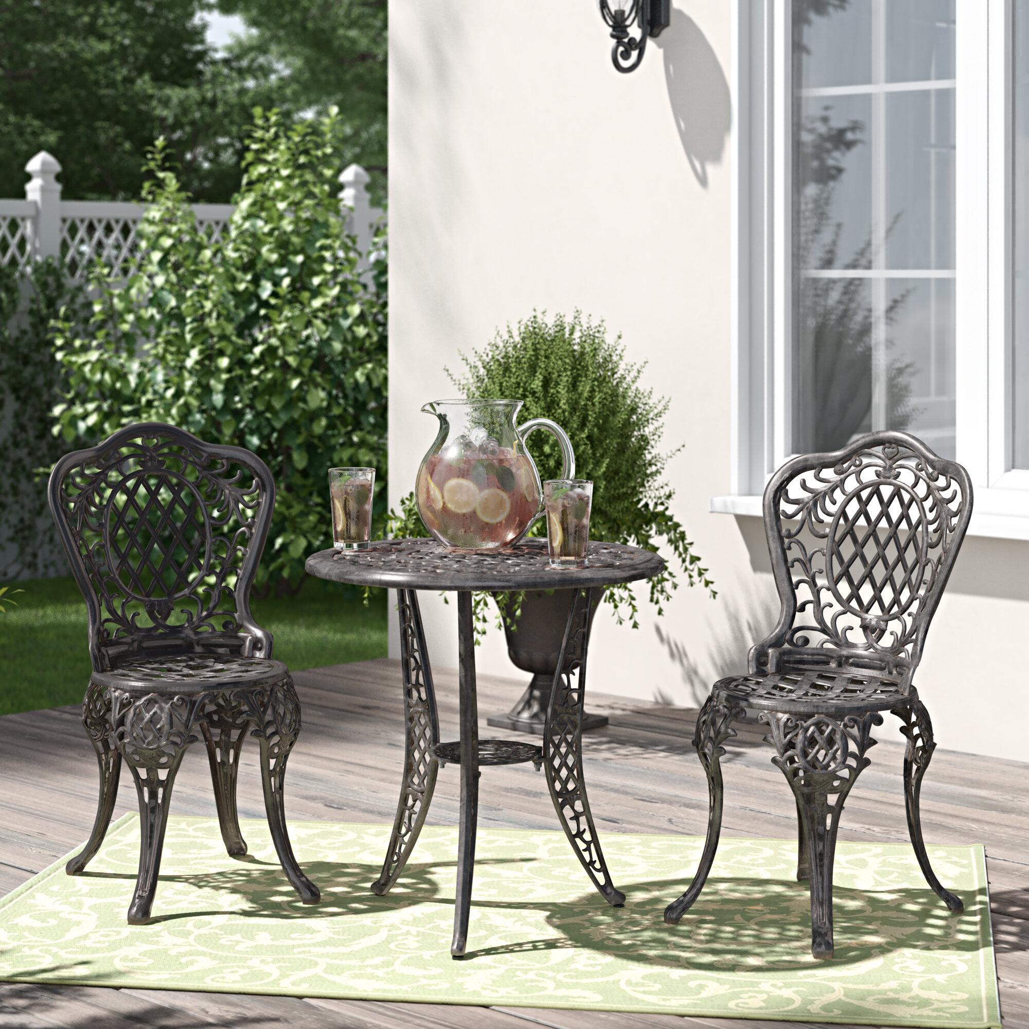 3 Piece Bronze Cast Aluminum Outdoor