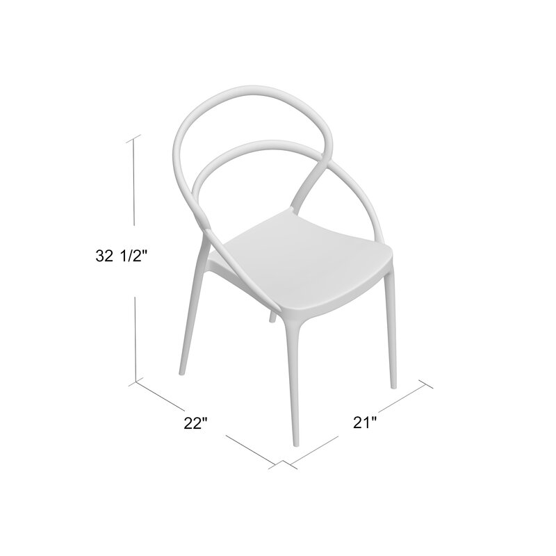 Arjune Stacking Patio Dining Chair Reviews Allmodern