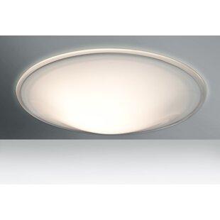 Besa Lighting Luma 3-Light Outdoor Flush Mount