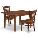Aletha 3 Piece Extendable Solid Wood Dining Set by Winston Porter