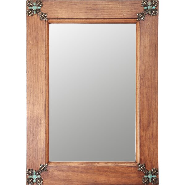 wood framed bathroom mirrors with salvaged wood rustic frame