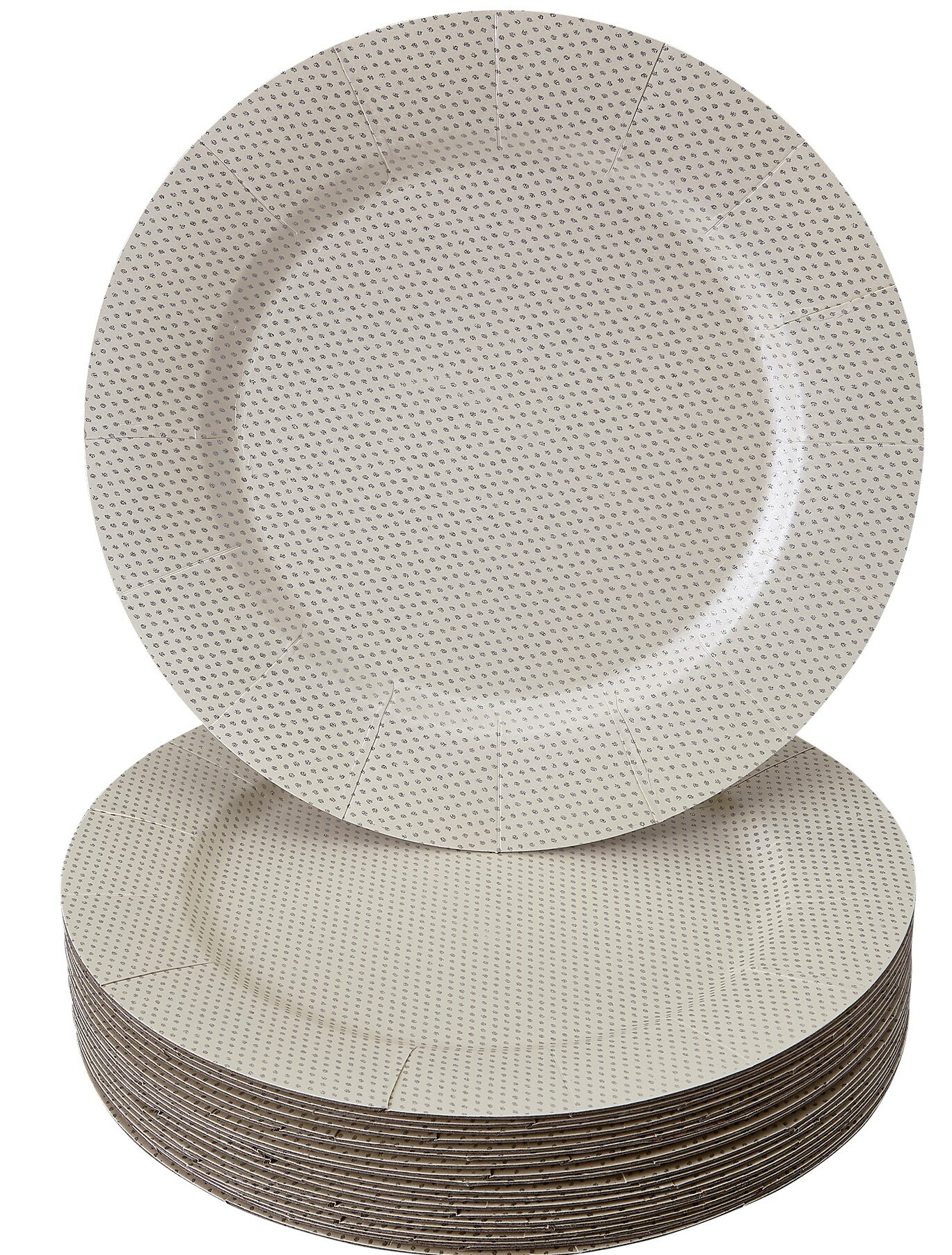 Glamour Gray Heavy Duty 9 Inch Paper Plates 24 Pack Birthday Party Decor