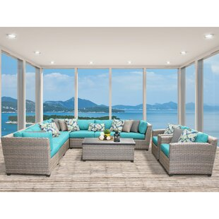 Meeks 10 Piece Sectional Seating Group with Cushions
