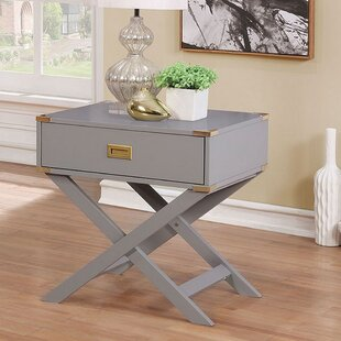 Darcella Contemporary End Table with Storage by Wrought Studio