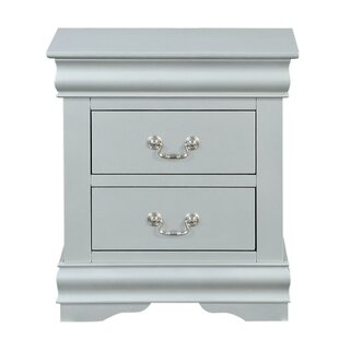 Check Prices Petterson Wooden 2 Drawer Nightstand by Charlton Home