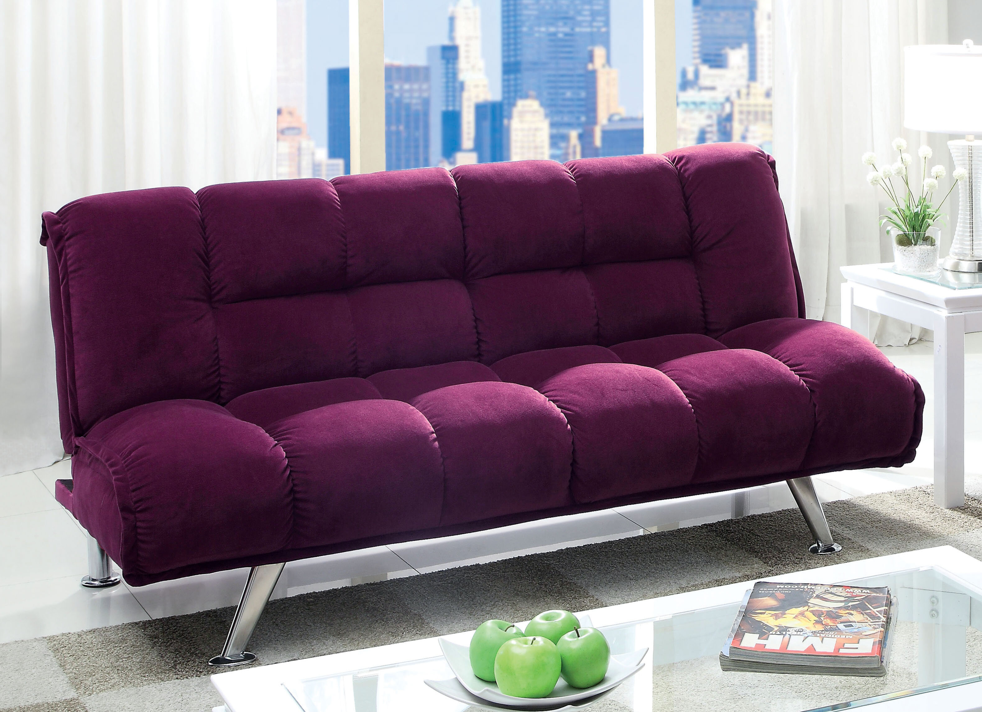 Sensational Oberon Twin Tufted Back Convertible Sofa Caraccident5 Cool Chair Designs And Ideas Caraccident5Info