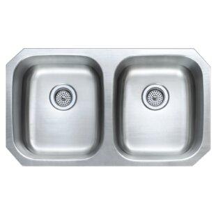 32 25   x 18 06   double basin undermount kitchen sink 18 inch durable kitchen sink   wayfair  rh   wayfair com